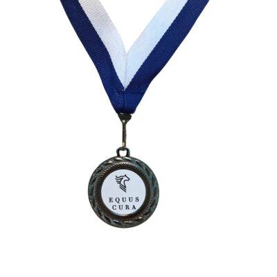 Medalje sølv Equus Cura